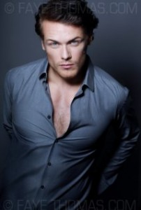Sam Heughan was chosen to play Jamie Fraser in 2014