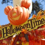 Halloween time sign at Disney