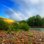 Double rainbow by the Clark Fork River